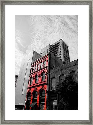Red Building Framed Print by Shelby  Young