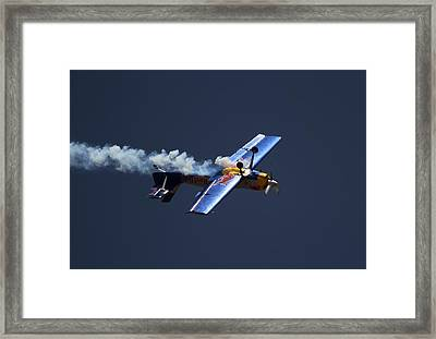 Red Bull - Inverted Flight Framed Print by Ramabhadran Thirupattur