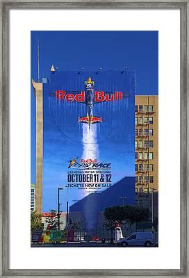 Red Bull On Olympic  Framed Print by Viktor Savchenko