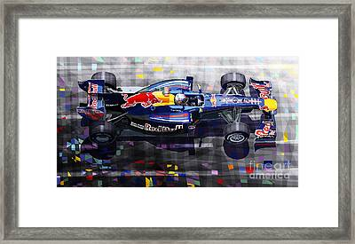 Red Bull Rb6 Vettel 2010 Framed Print