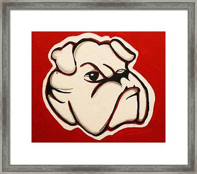 Red Bulldawg Framed Print by Brandy Nicole Neal