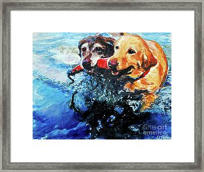 Red Bumper Framed Print by Molly Poole