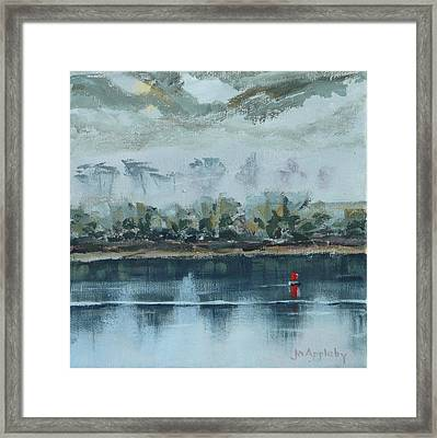 Framed Print featuring the painting Red Buoy by Jo Appleby