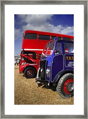 Red Bus Blue Lorry Framed Print by Rob Hawkins