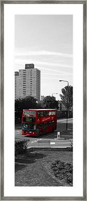 Framed Print featuring the photograph Red Bus by Helene U Taylor