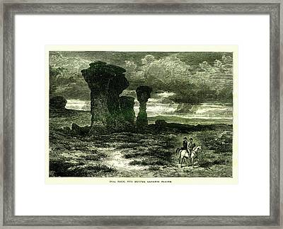 Red Buttes, Laramie Plains, Wyoming Framed Print by Nicoolay