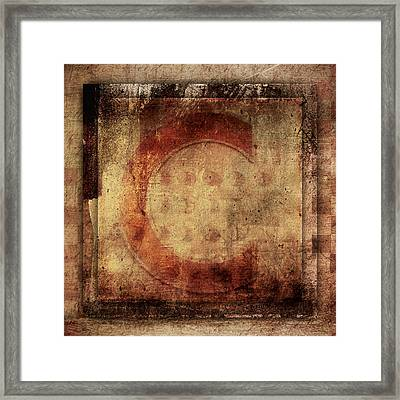 Red C Squares Framed Print by Carol Leigh