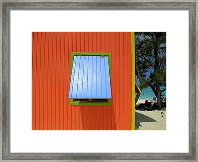 Red Cabin Framed Print
