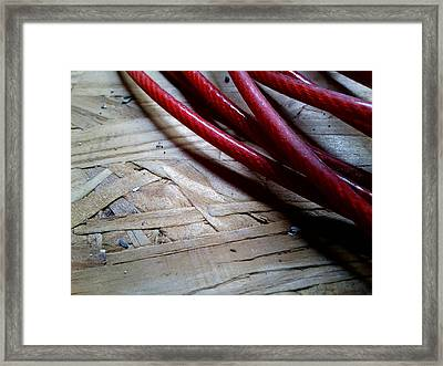 Red Cable Framed Print by Jaime Neo