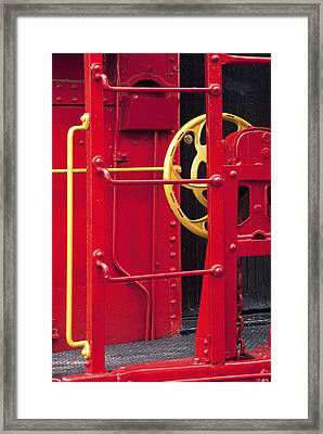 Red Caboose Framed Print by Paul W Faust -  Impressions of Light
