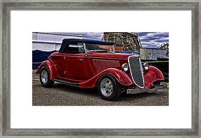 Red Cabrolet Framed Print by Ron Roberts