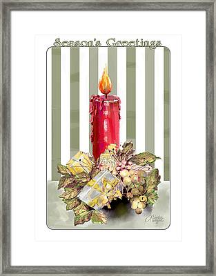 Framed Print featuring the digital art Red Candle by Arline Wagner