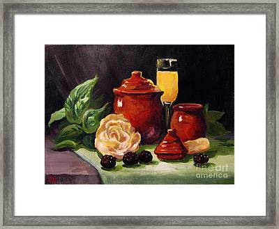 Red Candle Jars Framed Print