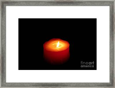 Red Candle Framed Print by William Voon