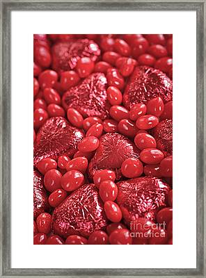 Red Candy Framed Print