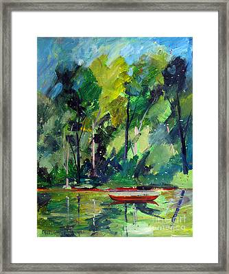 Red Canoe I I Framed Print by Charlie Spear