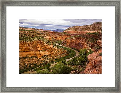 Red Canyon S Curve Framed Print by Kim Baker