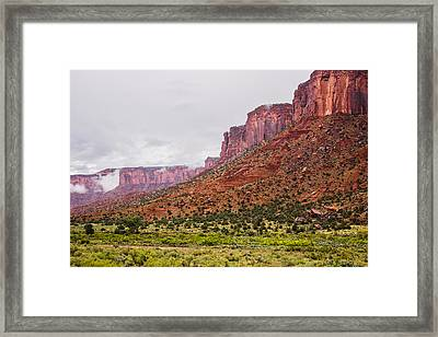 Red Canyon Valley Walls Framed Print by Kim Baker