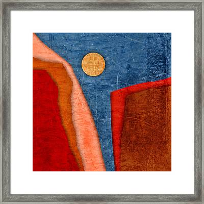 Red Canyons Framed Print by Carol Leigh
