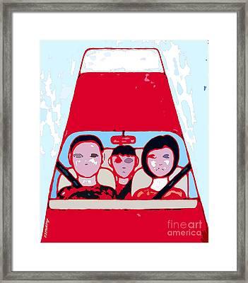 Red Car Framed Print by Patrick J Murphy