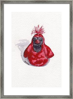 Red Cardinal Framed Print by Julie Maas