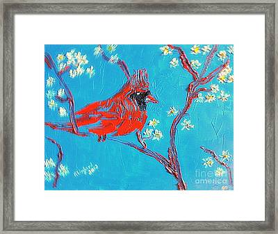 Red Cardinal Spring Framed Print