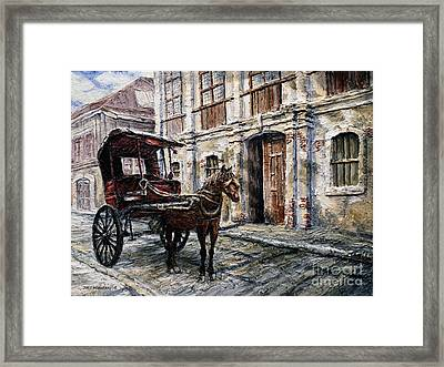 Red Carriage Framed Print