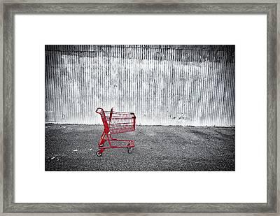 Red Cart Framed Print