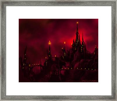 Red Castle Framed Print