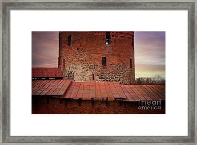 Red Castle Walls Framed Print by Jolanta Meskauskiene