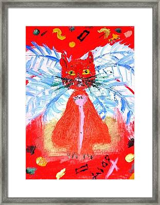 Red Cat I Framed Print