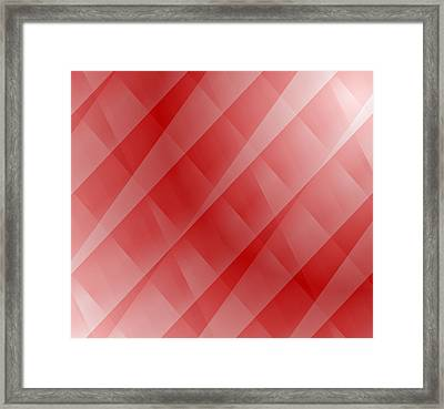 Red Framed Print by Cathie Tyler