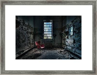 Red Chair - Art Deco Decay - Gary Heller Framed Print by Gary Heller