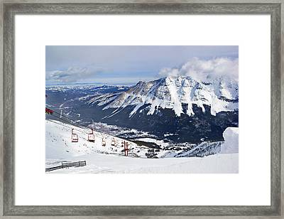 Red Chair Views Framed Print