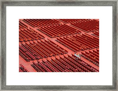 Red Chairs Framed Print by Dobromir Dobrinov
