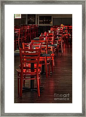 Framed Print featuring the photograph Red Chairs by Vicki DeVico