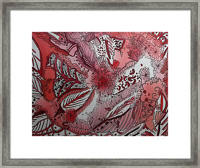 Red Chakra Framed Print by Terry Holliday