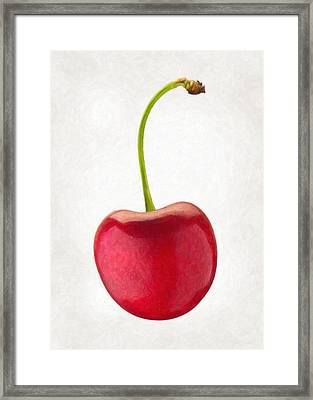 Red Cherry  Framed Print by Danny Smythe
