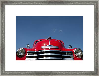 Red Chevrolet 3100 1953 Pickup  Framed Print by Tim Gainey
