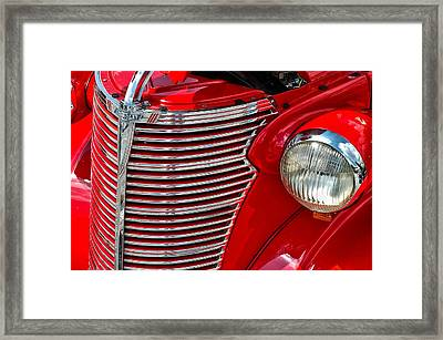 Red Chevrolet  Framed Print by Allen Carroll