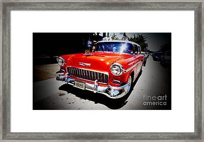 Red Chevrolet Bel Air Framed Print by Nina Prommer