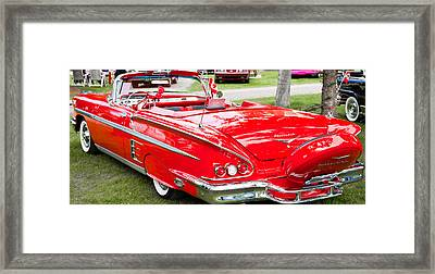 Framed Print featuring the photograph Red Chevrolet Classic by Mick Flynn