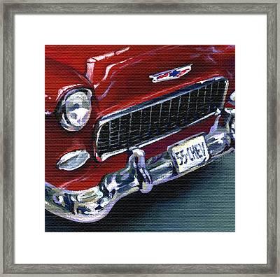 Red Chevy Framed Print by Natasha Denger