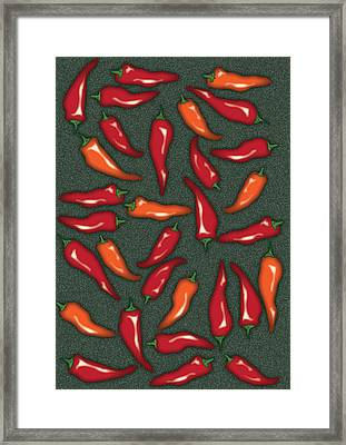 Red Chilli Peppers Framed Print