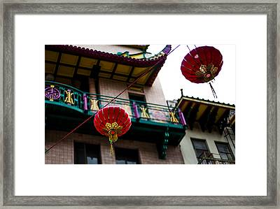 Red Chinese Lanterns Framed Print by SFPhotoStore