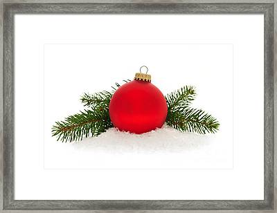 Red Christmas Bauble Framed Print