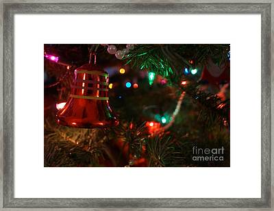 Red Christmas Bell Framed Print by Kerri Mortenson