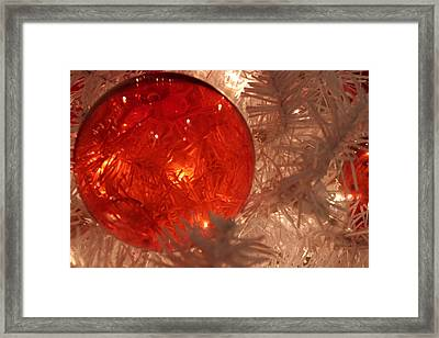 Red Christmas Ornament Framed Print by Lynn Sprowl