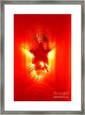 Red Christmas Star Framed Print by Gaspar Avila