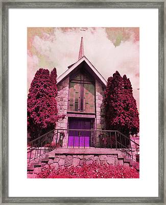 Framed Print featuring the photograph Red Church by Laurie Tsemak